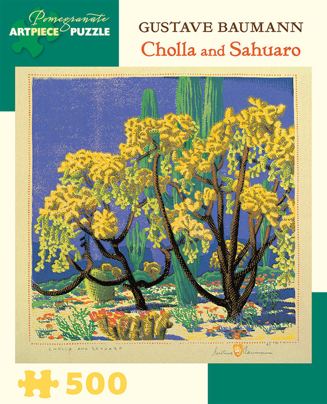 CHOLLA AND SAHUARO- GUSTAVE BAUMANN